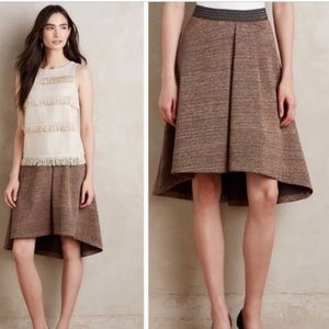 Anthropologie Hd in Paris high Low Metallic Skirt
